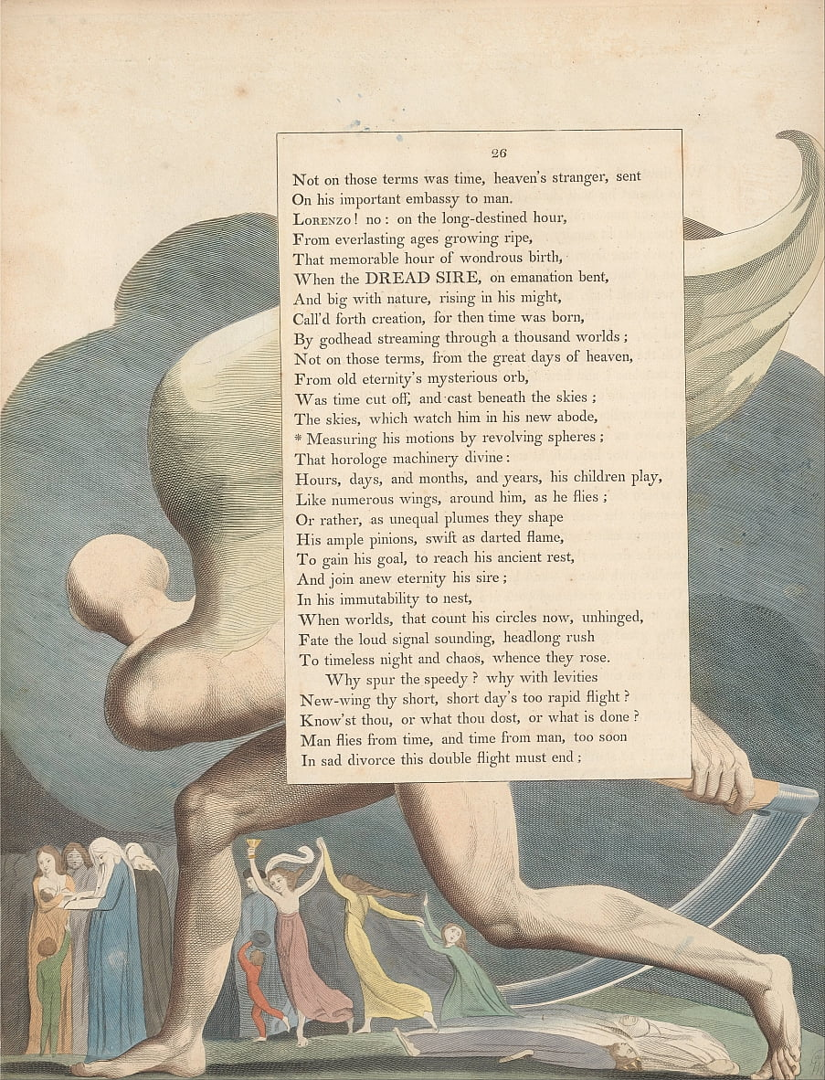 Youngs Night Thoughts, Page 26,  by William Blake