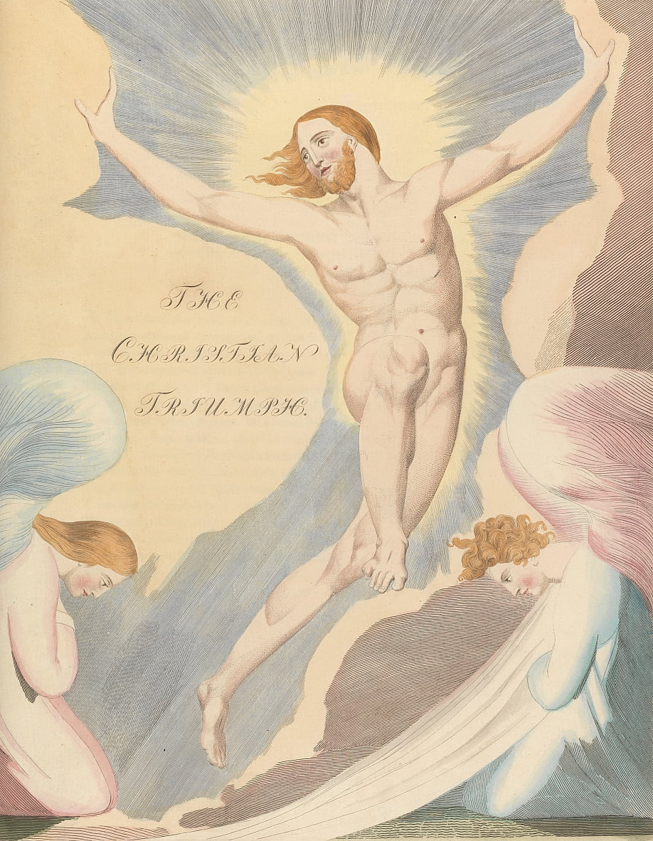 Youngs Night Thoughts, Page 65, Night the Fourth, The Christian Triumph. by William Blake