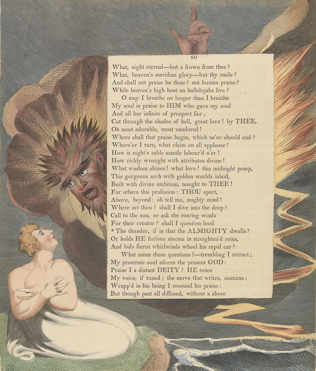 Youngs Night Thoughts, Page 80, The thunder if in that the Almighty dwells by William Blake