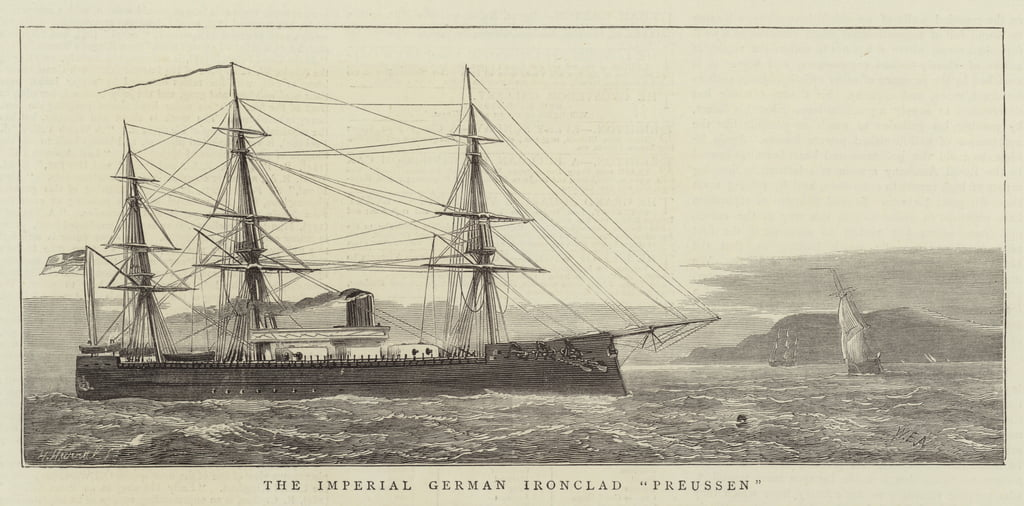 The Imperial German Ironclad Preussen  by William Edward Atkins