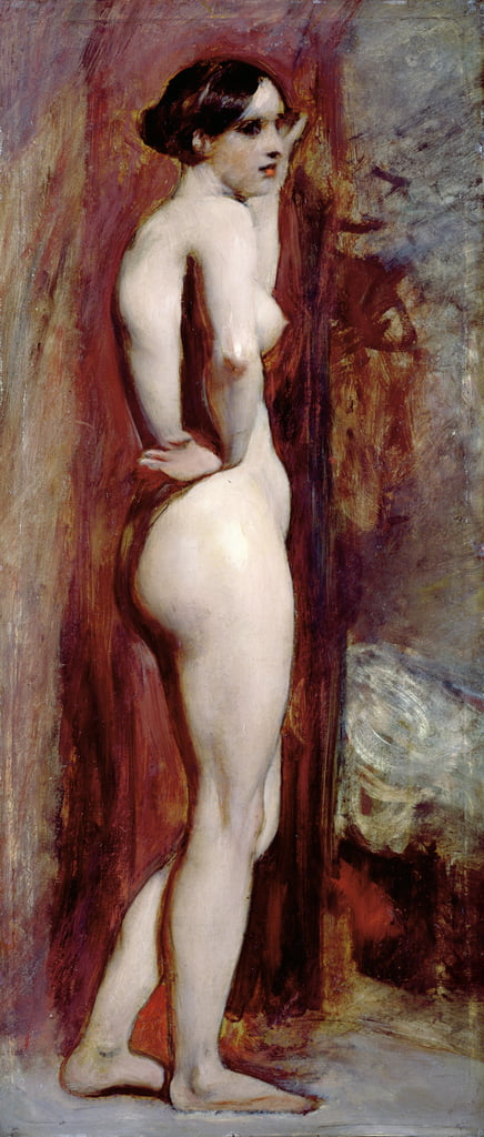 Female Nude from the Side, 1830 (oil on millboard) by William Etty