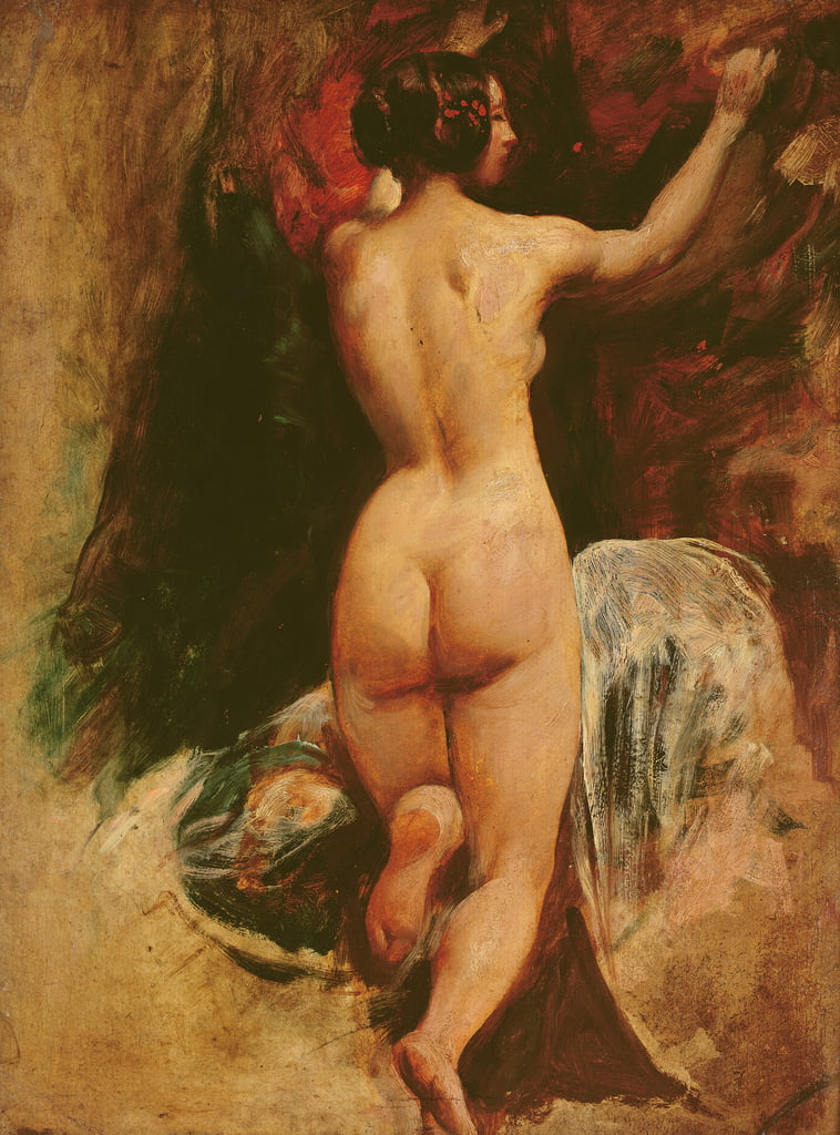 Female nude seen from the back, c.1835-40  by William Etty