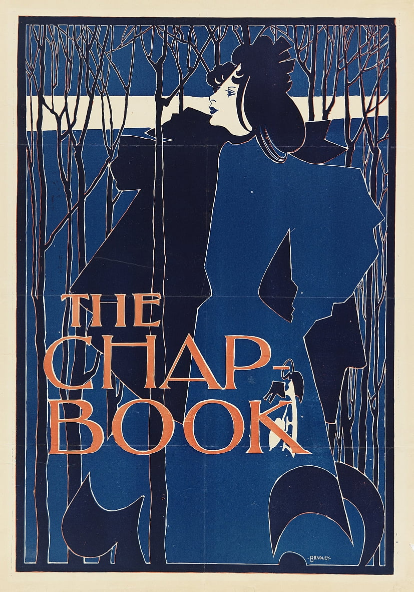 The Blue Lady, poster for The Chap-Book by William Bradley