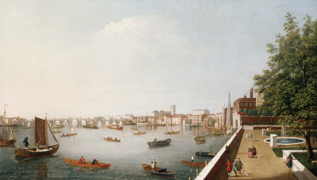 View of the River Thames from the Adelphi Terrace by William James