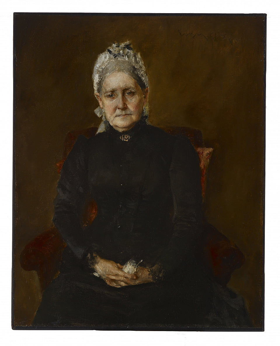 Portrait of My Mother (Sarah Swaim Chase) by William Merritt Chase