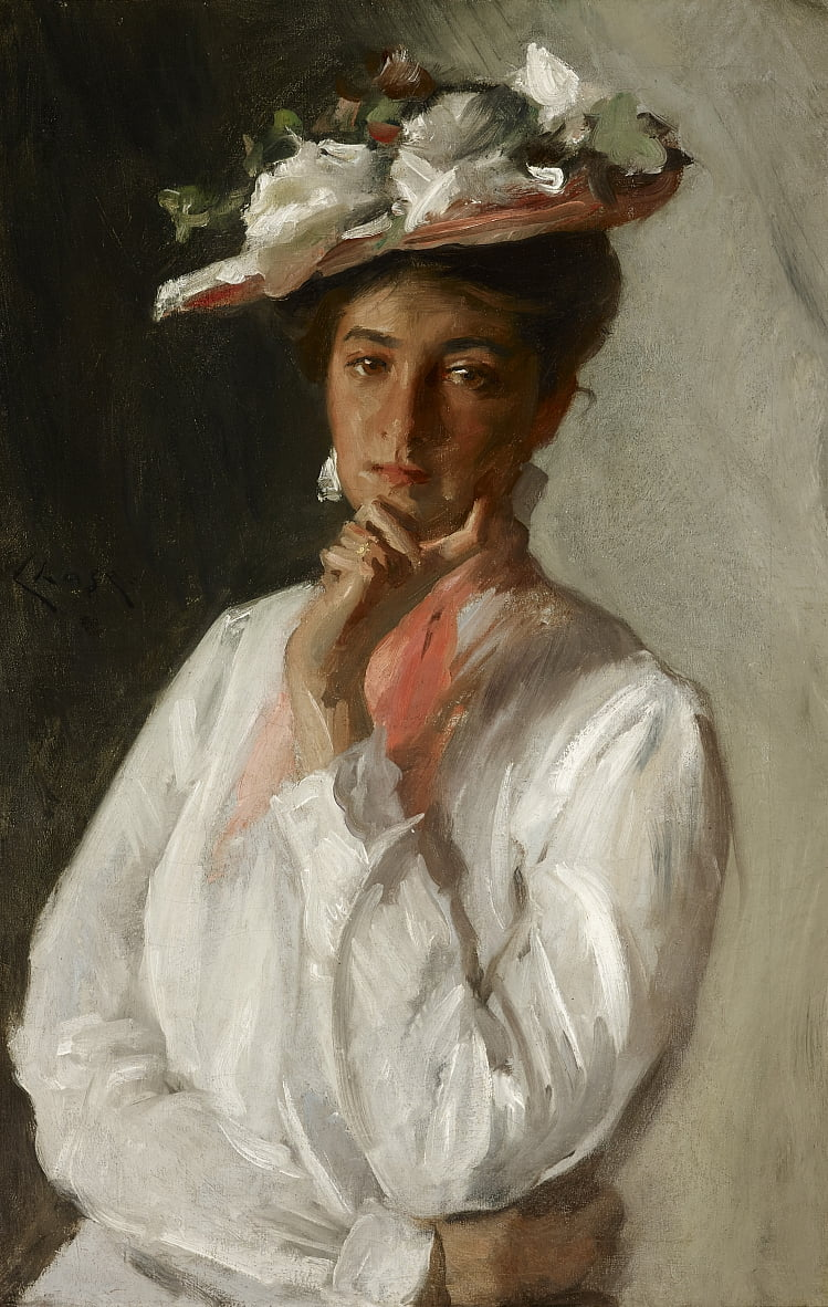 Woman in White by William Merritt Chase
