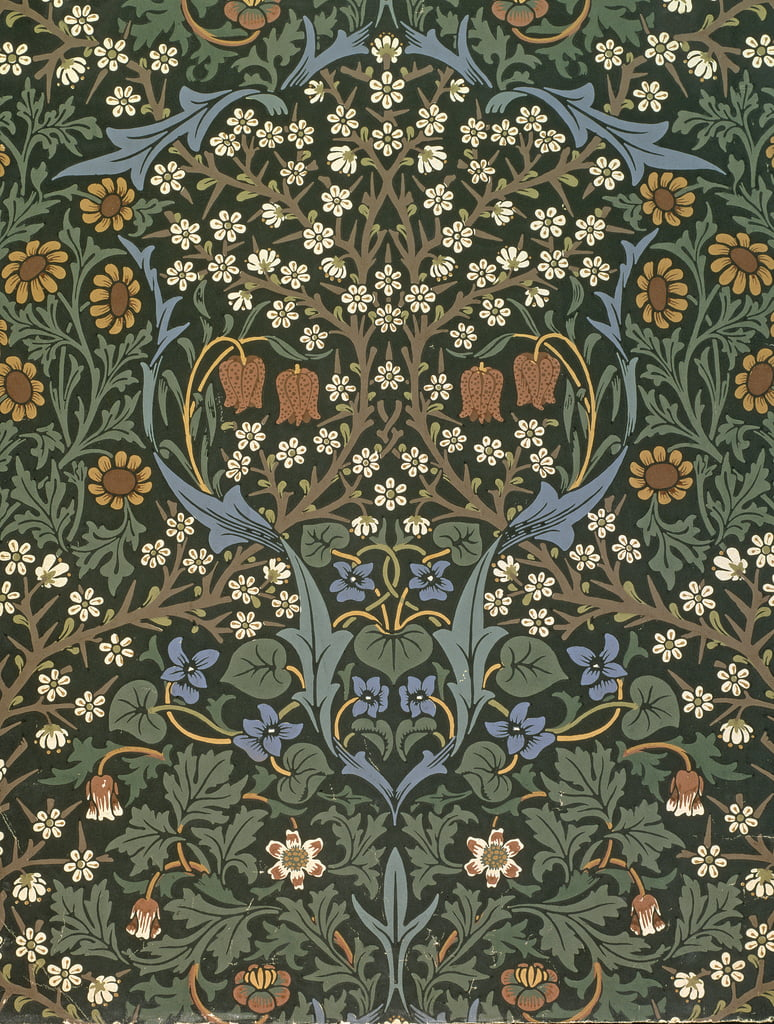 Blackthorn wallpaper, designed by William Morris (1834 ...
