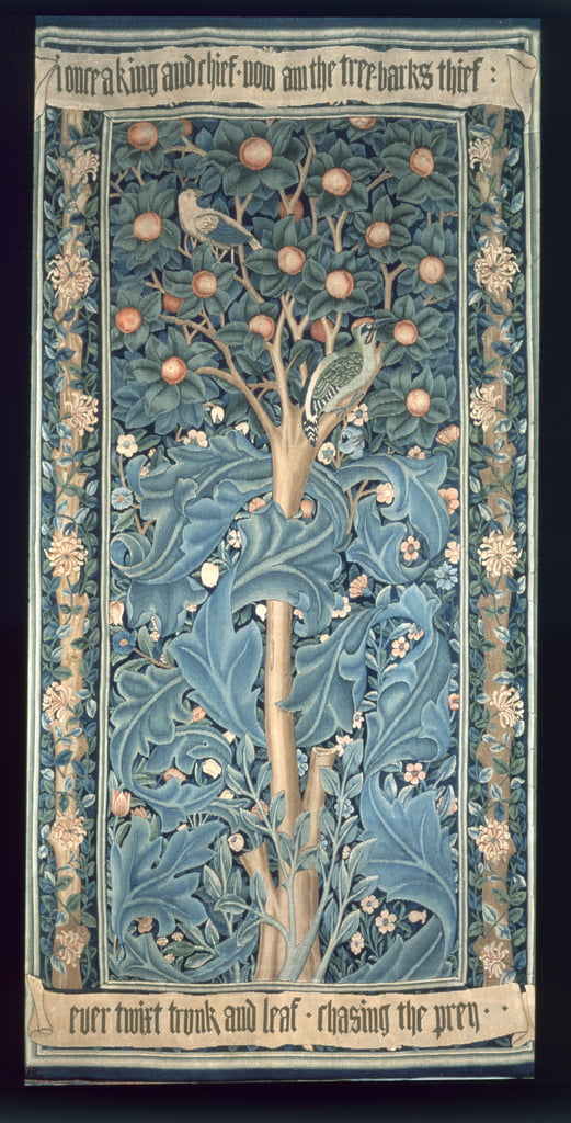 The Woodpecker Tapestry, designed by William Morris (1834-96) 1885 (for detail see 87205) by William Morris