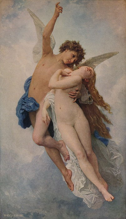 Cupid and Psyche, 1889, 1938 by William Adolphe Bouguereau