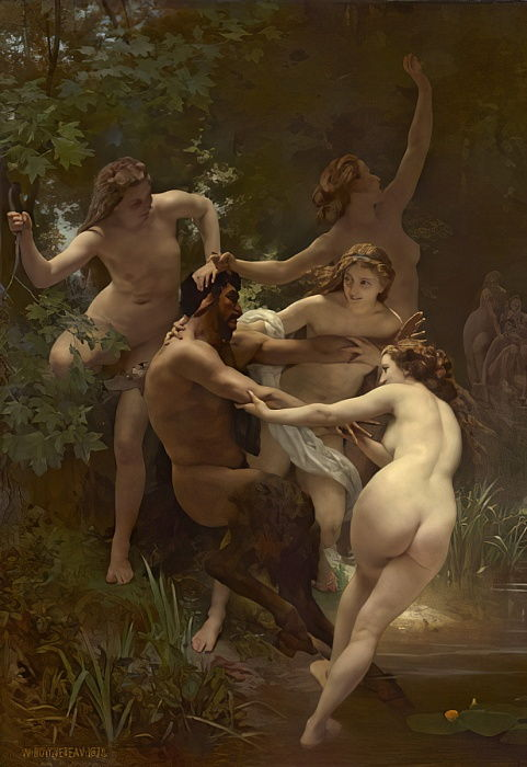 Nymphs and Satyr, 1873 by William Adolphe Bouguereau