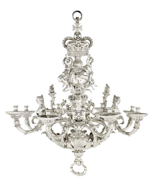 The Givenchy Royal Hanover Chandelier, 1736 by William Kent