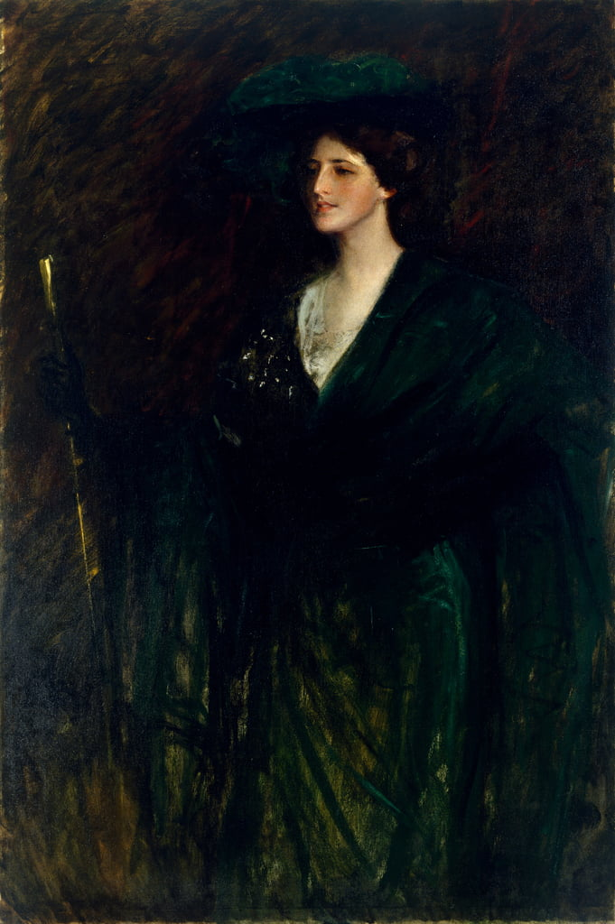 The Emerald Lady, c.1896-1900  by William Merritt Chase