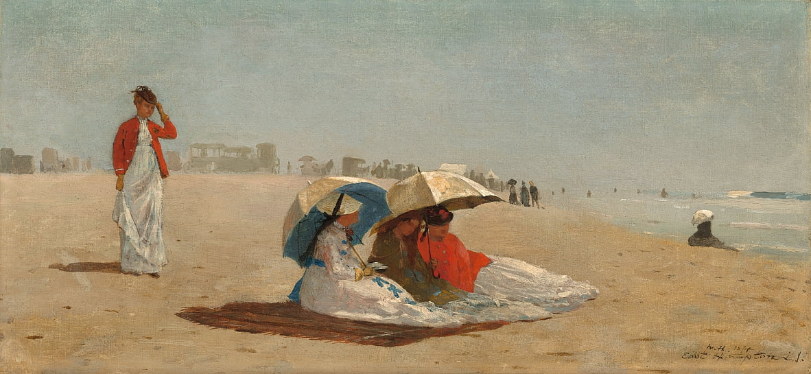 East Hampton Beach, Long Island by Winslow Homer