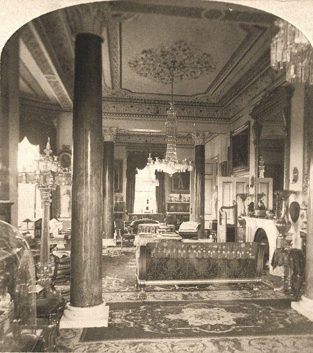 The Drawing Room, Queen Victorias Marine Residence, Osborne House, I.O.W, 1900.   by Works and Sun Sculpture Studios