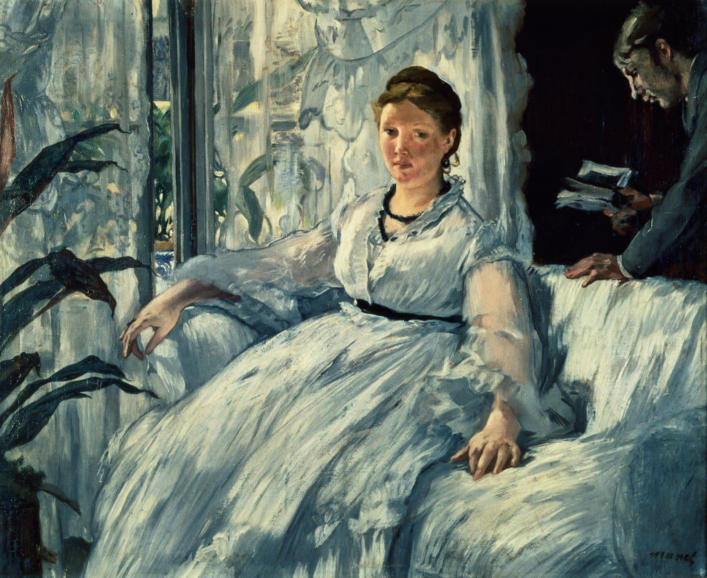 Reading, 1865  by Édouard Manet