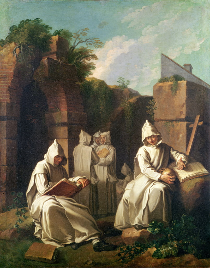 Carthusian Monks in Meditation  by Étienne Jeaurat