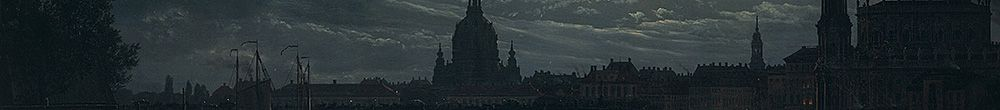 View of Dresden by Moonlight (Johan Christian Dahl)